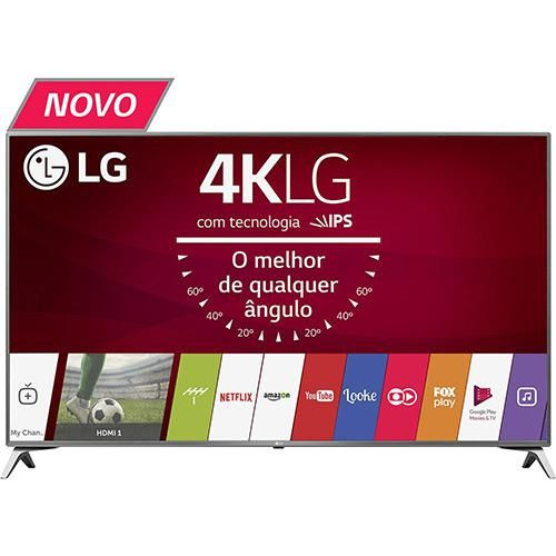 "Smart TV LED 43"" LG 43UJ6525 Ultra HD 4K 4 HDMI 2 USB WebOS 3.5 Painel Ips HDR e Magic Mobile Connection << R$ 199900 >>"