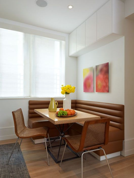 Bring A Pop Of Color Into Breakfast Nook With Painting