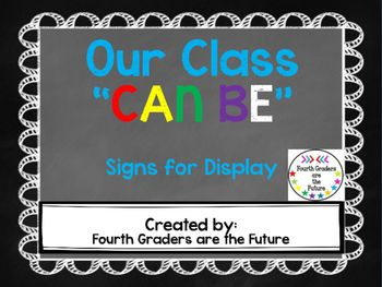 "When purchasing this product, you will get 2 posters: ""Welcome to Class!"" and ""Together We Can Be Anything!"" PLUS 9 banners stating:   - We can be kind   - We can be helpers   - We can be giving   - We can be creative   - We can be inventors   - We can be dreamers   - We can be writers   - We can be friends   - We can be scholarsThese bright, colorful signs are perfect for a bulletin board or wall display!"