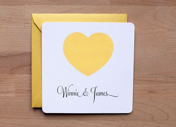 Wedding invitation  Simple Heart by ellothere on Etsy, $4.75