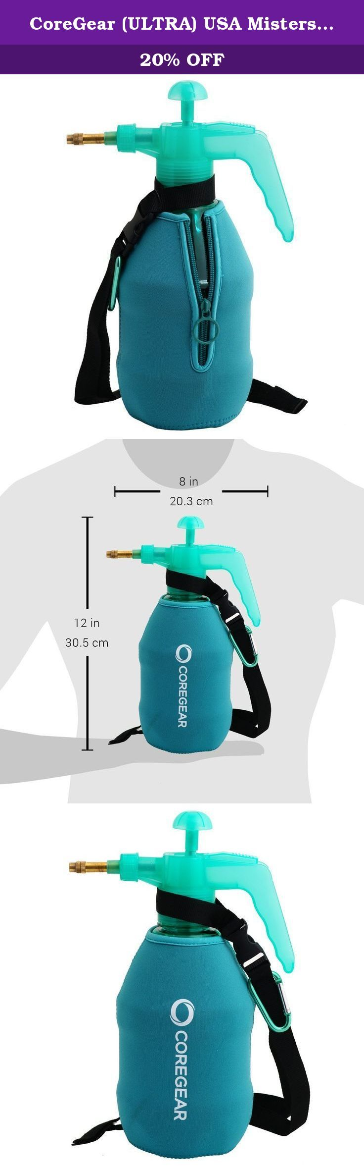 """CoreGear (ULTRA) USA Misters 1.5 Liter Personal Pump Water Mister & Sprayer With Full Neoprene Jacket (Teal). CoreGear 