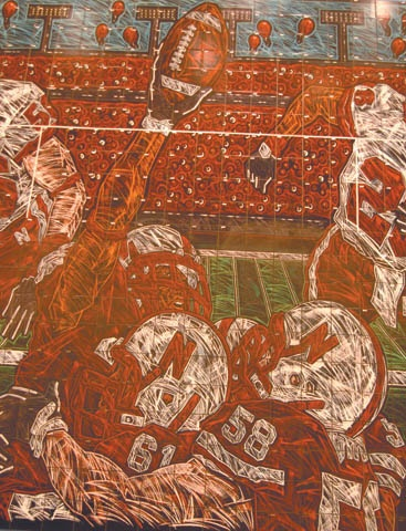 University of Nebraska Cornhuskers football mural