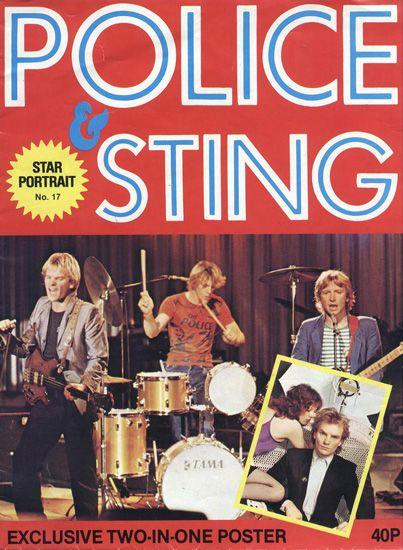 POLICE & STING - STAR PORTRAIT POSTER MAGAZINE 1979