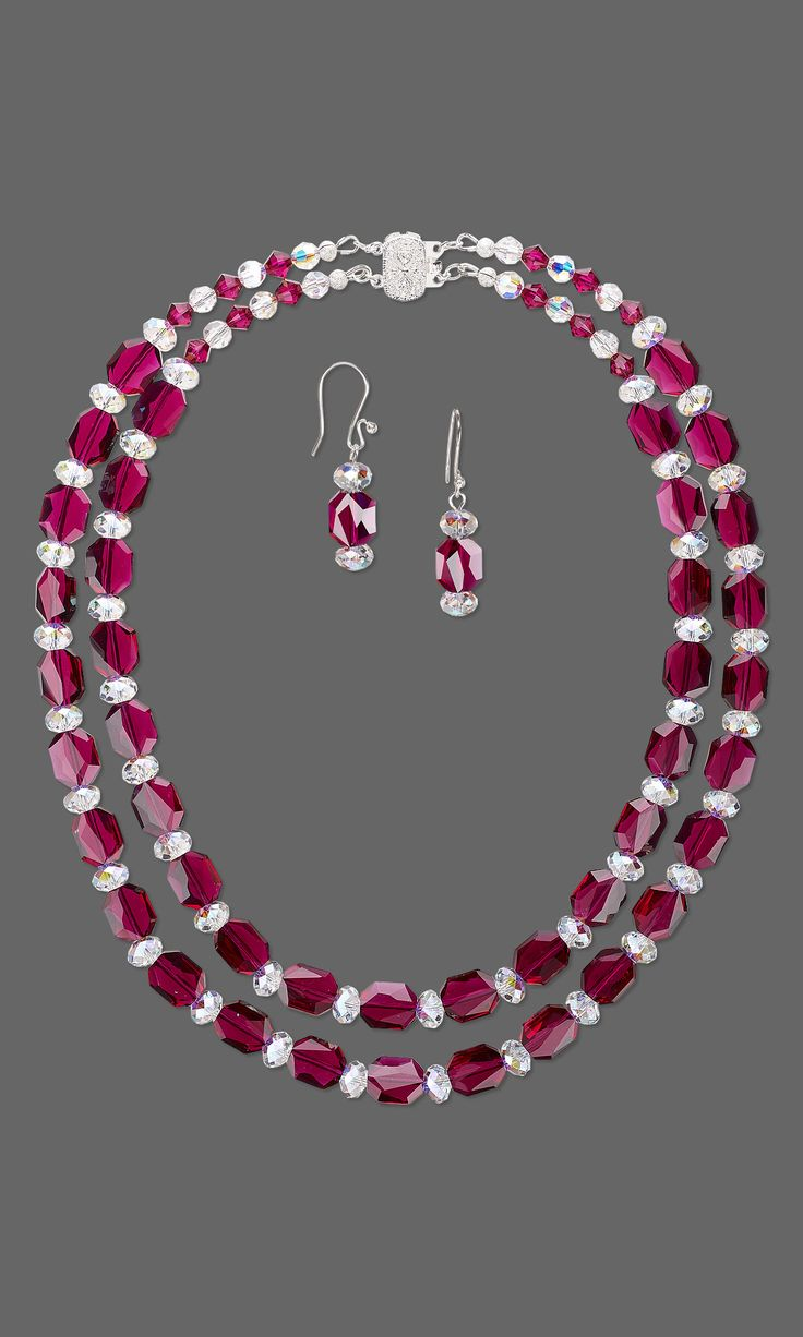 Jewelry Design – Double-Strand Necklace and Earrin…