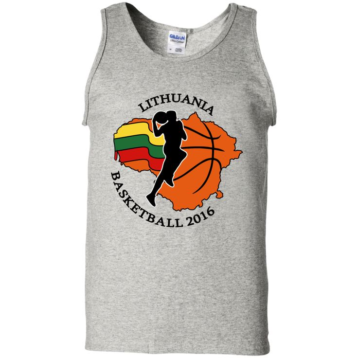 Lithuania Basketball 2016 -- Guys Tank Top