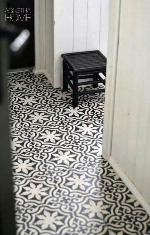 Black And White Floor Tiles Black Pinterest