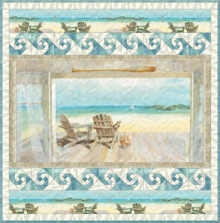 Coastal Bliss Wall Hanging Free Quilt Pattern