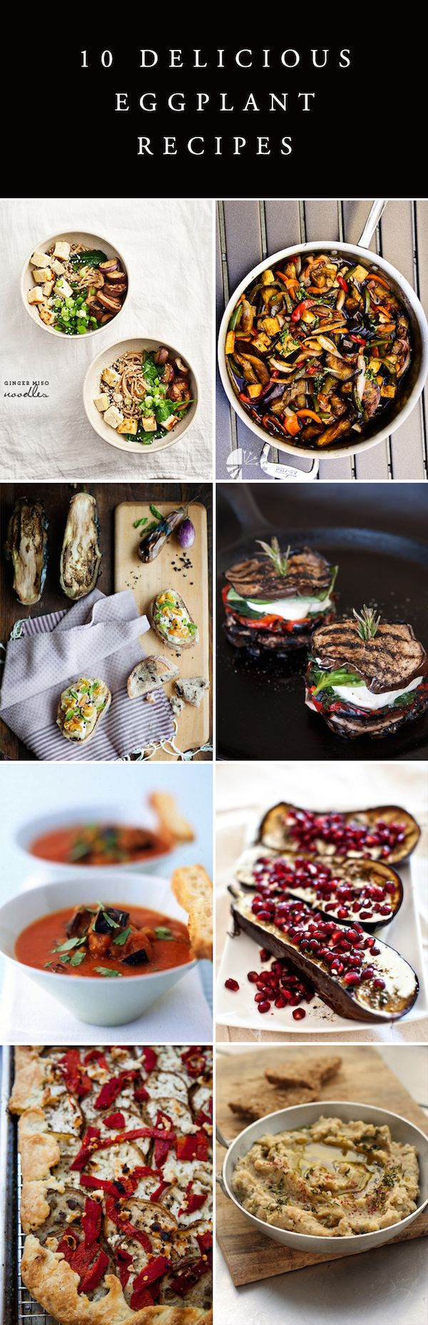 The best recipes using eggplants: grilled, roasted, & pureed in the most amazing baba ganoush!