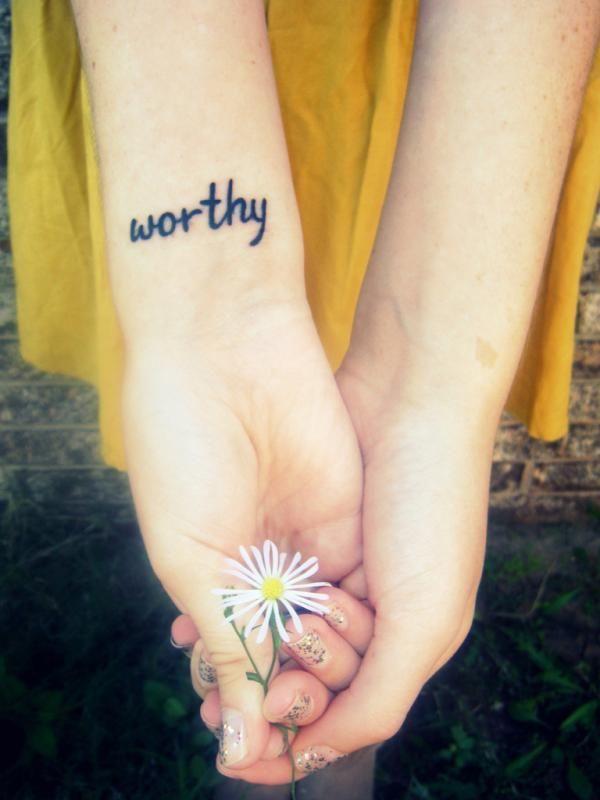 worthy wrist tattoo