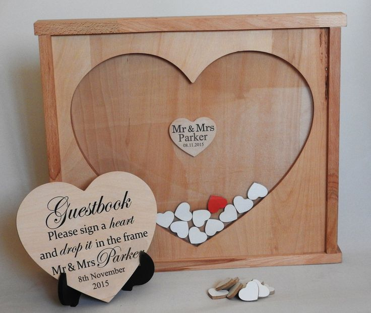 Wedding drop box,wooden guestbook with hearts, alternative guest book , drop box guest book, Rustic guest book, country style guest book by MikesFineDesigns on Etsy