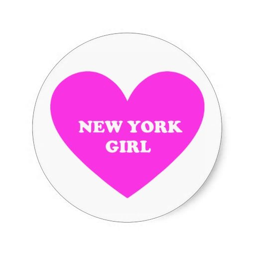 New York Girl Round Sticker