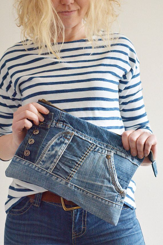 Recycled denim bag Levis bag Jeans bag upcycled bag