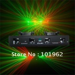 179.00$  Buy here - http://alips4.worldwells.pw/go.php?t=579019115 - 4 lens RG Party Effect DJ Sound Active Stage Light sound sensitive control  DMX