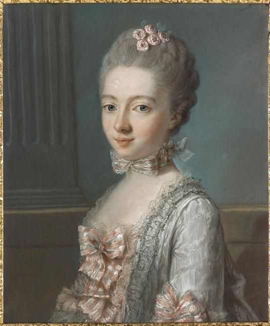 Madame Lalive de Jully, 1764 by Joseph Ducreux (1735-1802) (Musee Antoine Lecuyer)