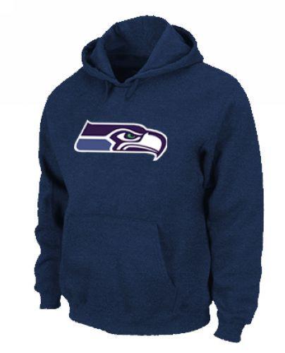 Seattle Seahawks Logo Pullover Hoodie Dark Blue