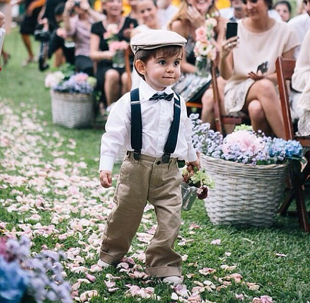 Cute outfit for a ring bearer