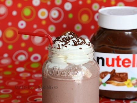 Milk-shake Nutella®-fraises | Made in cooking