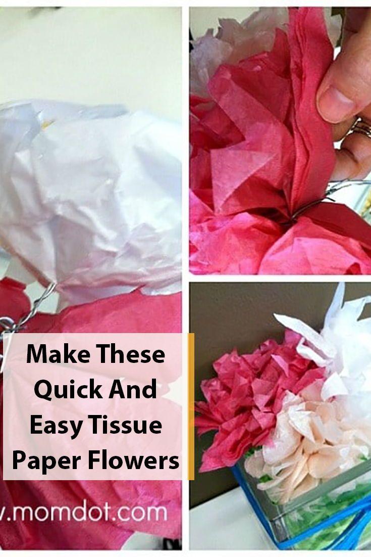 Diy Easy Tissue Paper Flower Tutorial Tissue Paper Crafts Paper
