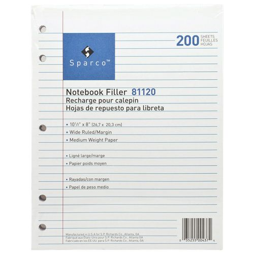 """Sparco 200-Sheet 8"""" x 10.5"""" 5-Hole Punched Lined Paper (SPR81120)  @BestBuyCanada or @BestBuyQuebec Going to need A LOT OF PAPER for the year!! These are awesome! #SetMeUpBBY"""