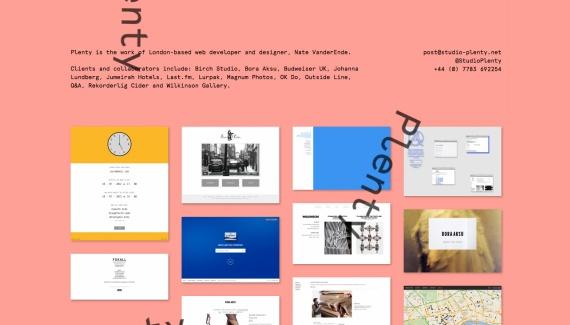 Studio Plenty - Web design inspiration from siteInspire: Webdesign Design Inspiration,  Internet Site, Webdesign Inspiration,  Website, Web Site, Studios Plenti, Designinspiration View, Siteinspire Webdesign, Web Design Inspiration