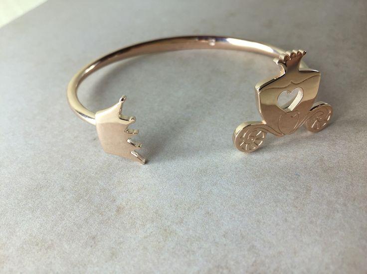 Bracciale rigido in argento 925 rodiato oro rosa. La favola continua..
