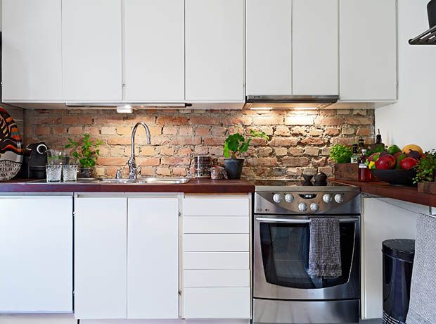 Google Image Result for http://furnitureandvase.com/wp-content/uploads/2012/09/Simple-Idea-of-Kitchen-Wall-Decorating-with-Red-Brick-3.jpg