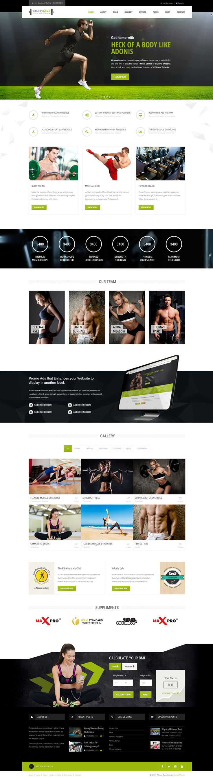 Fitness zone comes with Effective Skins, easy to edit modules, Mega Menu, Sticky Navigation, Mobile Nav for Smart Phones, Blog page with comments, filterable portfolio with details page variations, responsive Short-codes and working contact form page with map. Mega pack template for your website to impress your site visitors!