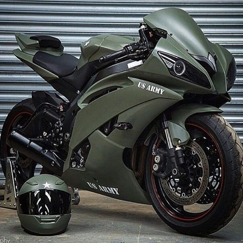 US Army Sportbike  #yamaha#big#honda#kawasaki#suzuki#ktm#cbr#olivegreen#armybike#military#r6#badass#motard#4stroke#4strokes#enduro#motorbike#bike#motorcycle#motocross#dirtbike#bikeporn#braaap#braaaap#braaaaap#bikelife#supermoto#love#truelove#usarmy