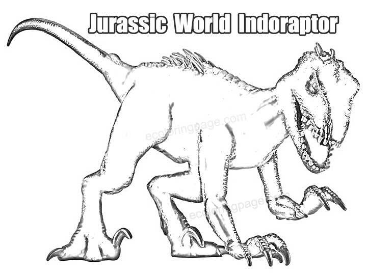 Printable Jurassic World Indoraptor Dinosaur Coloring Page