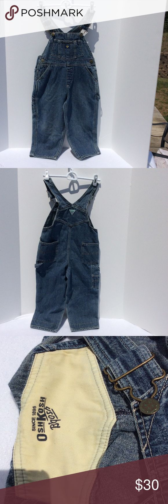 Osh Kosh b gosh kids jean overalls sz 4T Osh Kosh B Gosh kids overalls sz 4T. Excellent condition. Smoke free home. So cute. Jeans denim Osh Kosh Bottoms Overalls