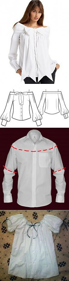 How to alter men's shirts