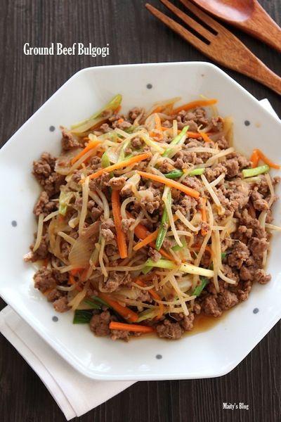 牛挽肉でプルコギからのプルコギうどん by マイティさん   レシピ ...