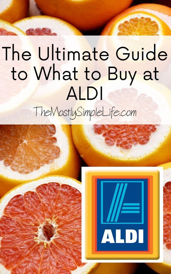 The Ultimate Guide to What to Buy at Aldi. If you've never tried to shop at Aldi, you need to so that you can save money on groceries. Click through to see what I buy at Aldi.