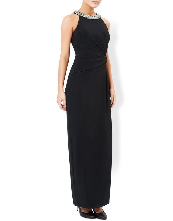 NEW MONSOON BLACK EMBELLISHED PHOENIX MAXI DRESS COCKTAIL 8 to 20 RRP £99