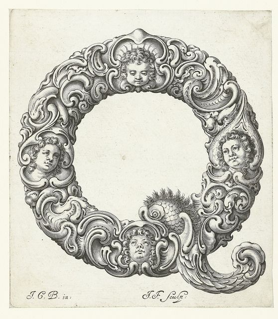 The Letter Q From A Stunning Set Of 17th Century Prints Organic Type