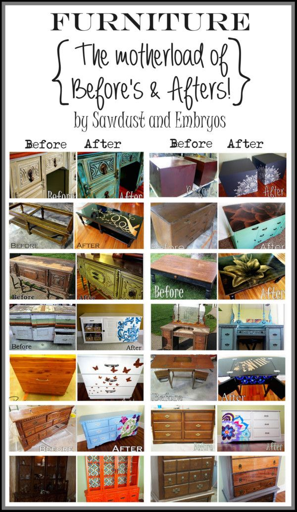 TONS of amazing furniture transformations using a variety of different techniques... by Sawdust and Embryos!