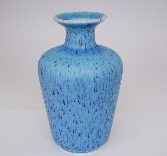 Rorstrand Gunnar Nylund Turquoise Blue vase by ScandicDiscovery