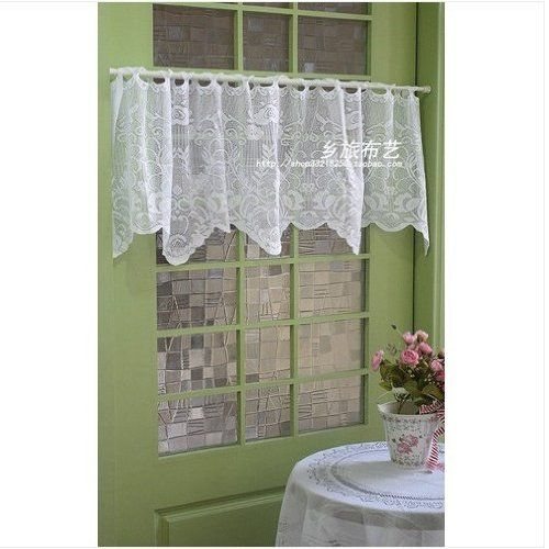 Elegant Kitchen Curtains Valances: Image Detail For -... .com: Elegant All Crochet Lace Cafe