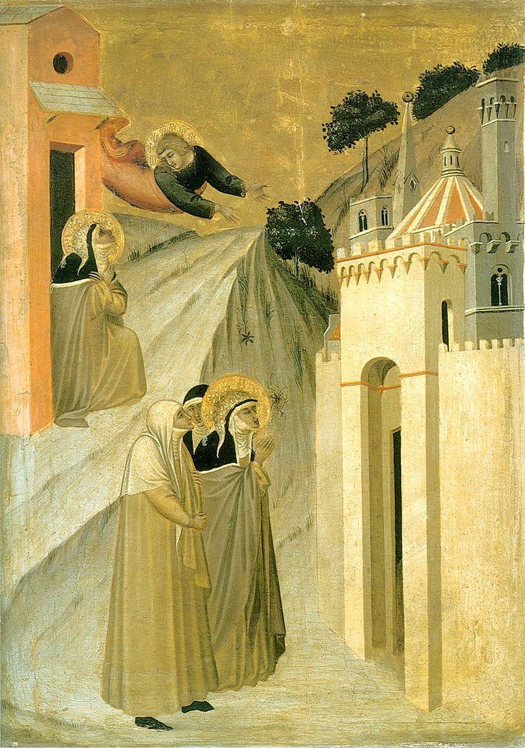 Pietro Lorenzetti (c. 1280 - 1348) Humilitas Reaches Florence Gold and tempera on panel, 1316 Galleria degli Uffizi, Florence, Italy