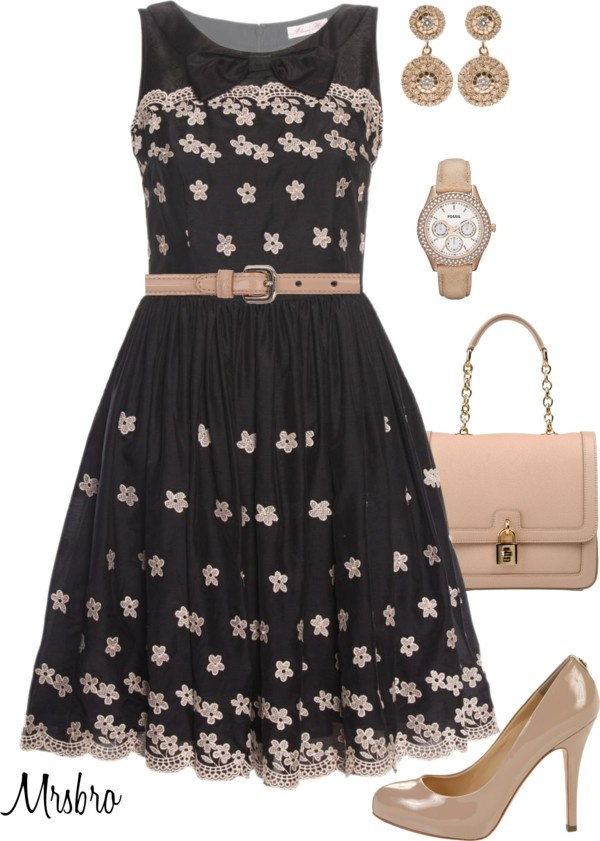 """""""Black and Beige"""" by mrsbro on Polyvore"""