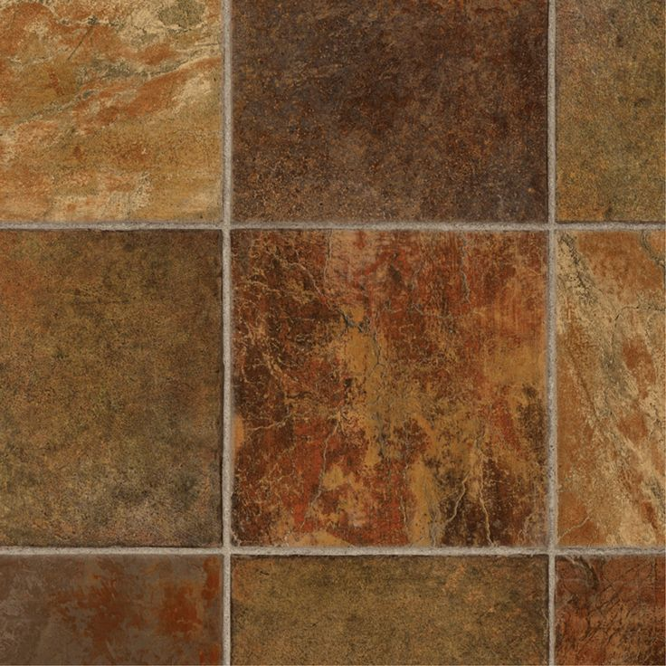 Shop Tarkett 12 Ft W Dark Rust Tile Low Gloss Finish Sheet