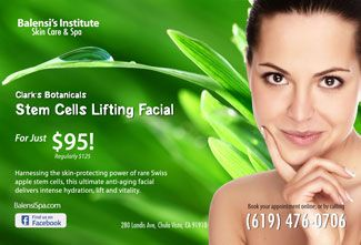 May Promotion of the Month- Clark's Botanical's Stem Cell Lifting Orig: $125.00 Promo Price: $95.00