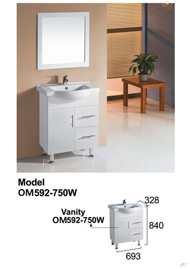 vanity 750mm, glossy white cabinet+pregnant basin | Trade Me