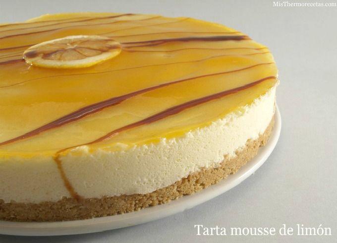 Tarta mousse de limón - Gelatina MisThermorecetas.com ༺✿ƬⱤღ http://www.pinterest.com/teretegui/✿༻