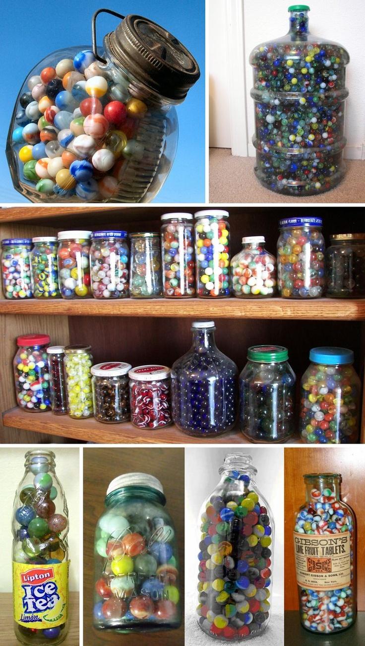 ~Marbles in jugs, marbles in jars. Evrywhere you look...Marbles