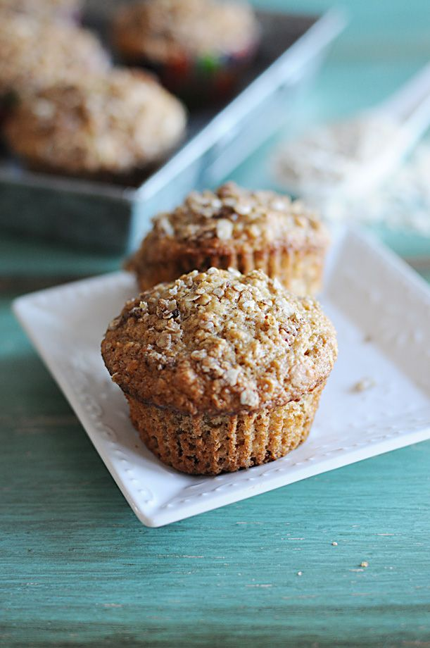 Applesauce Oatmeal Muffins: Not overly sweet, I don't mind letting my children having these for breakfast.