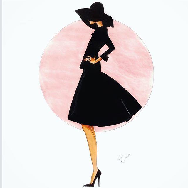 """""""One is never over dressed or under dressed in a little black dress."""" Karl Lagerfeld #littleblackdress #lbd #karllagerfeld #blackhat"""