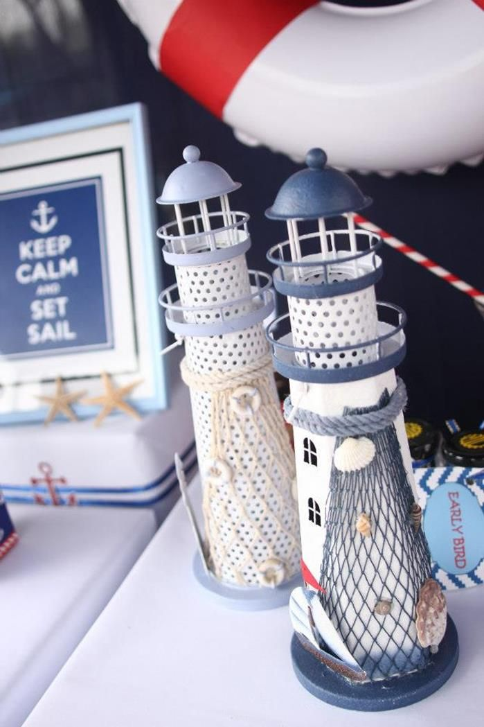 Nautical Party Planning Ideas Supplies Cake Idea Boat Sailor Navy