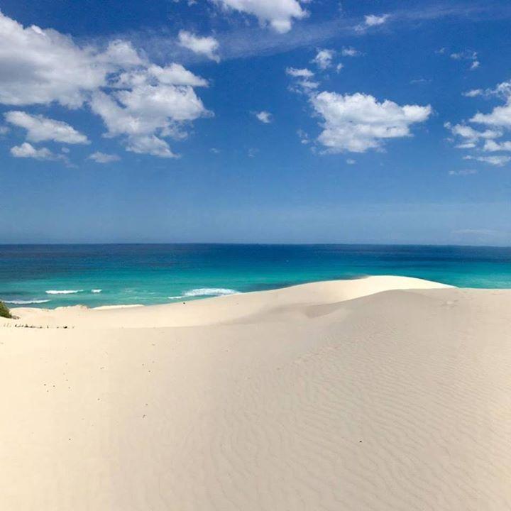 De Hoop Nature Reserve. Weiße Sanddünen soweit das Auge reicht.