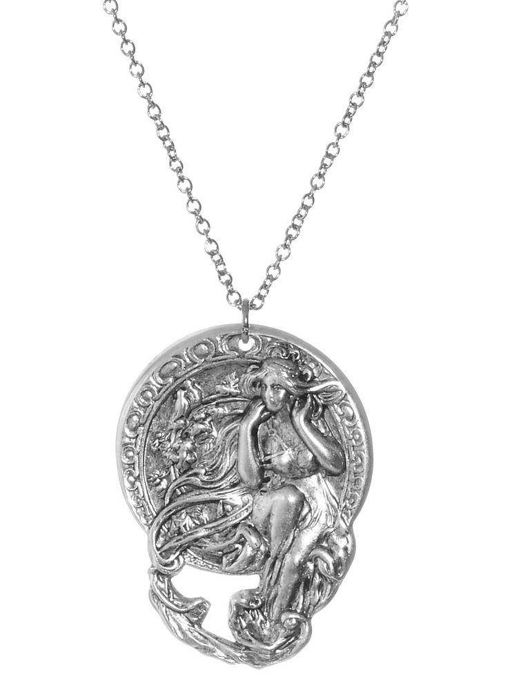Alphonse Mucha Music Necklace